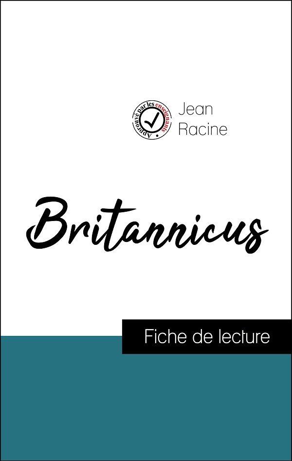 image couverture fiche de lecture britannicus de racine