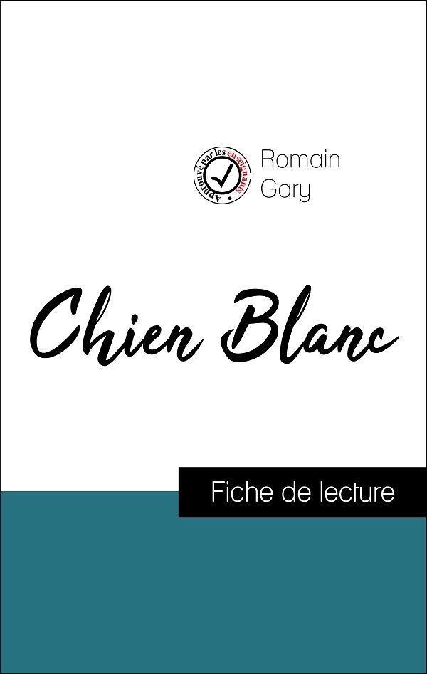 image couverture fiche de lecture chien blanc de romain gary