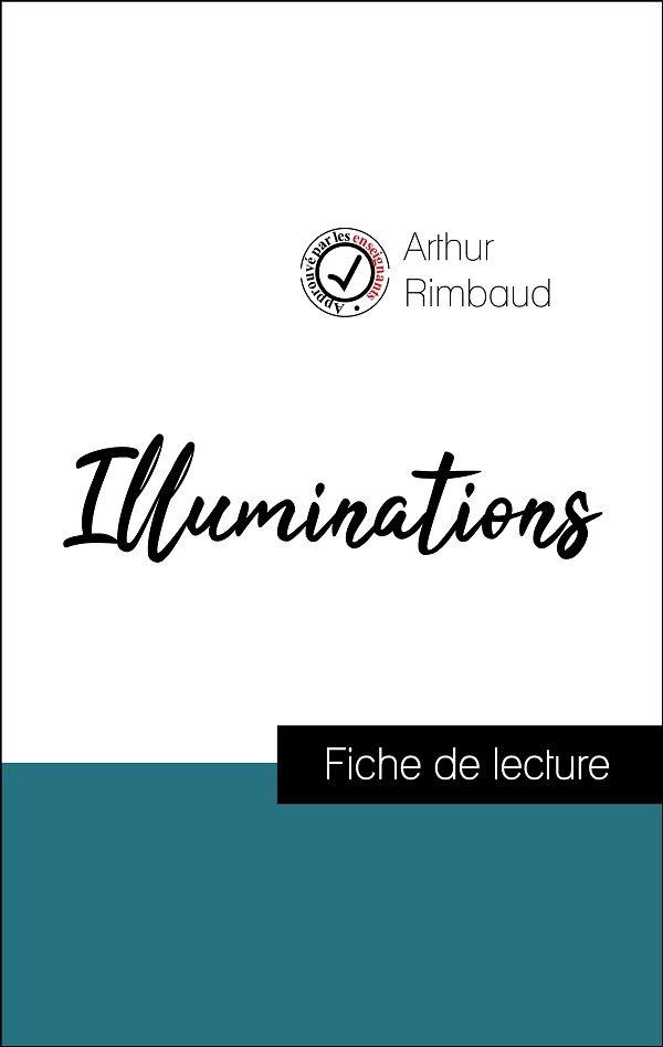 image couverture fiche de lecture illuminations de rimbaud