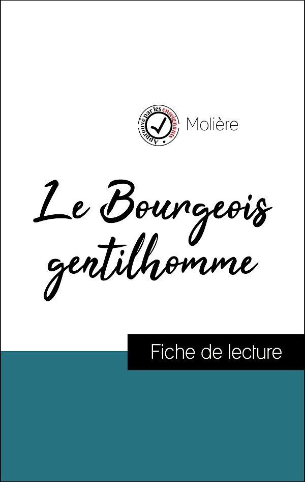 image couverture fiche de lecture le bourgeois gentilhomme de molière