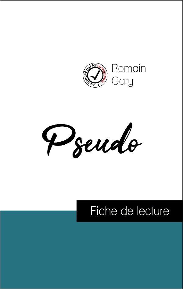 image couverture fiche de lecture pseudo de romain gary