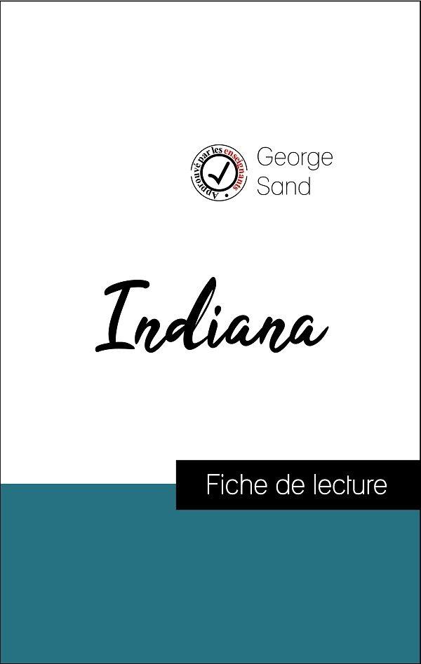 image couverture fiche de lecture indiana de george sand