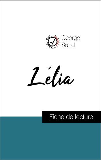 image couverture fiche de lecture lélia de george sand