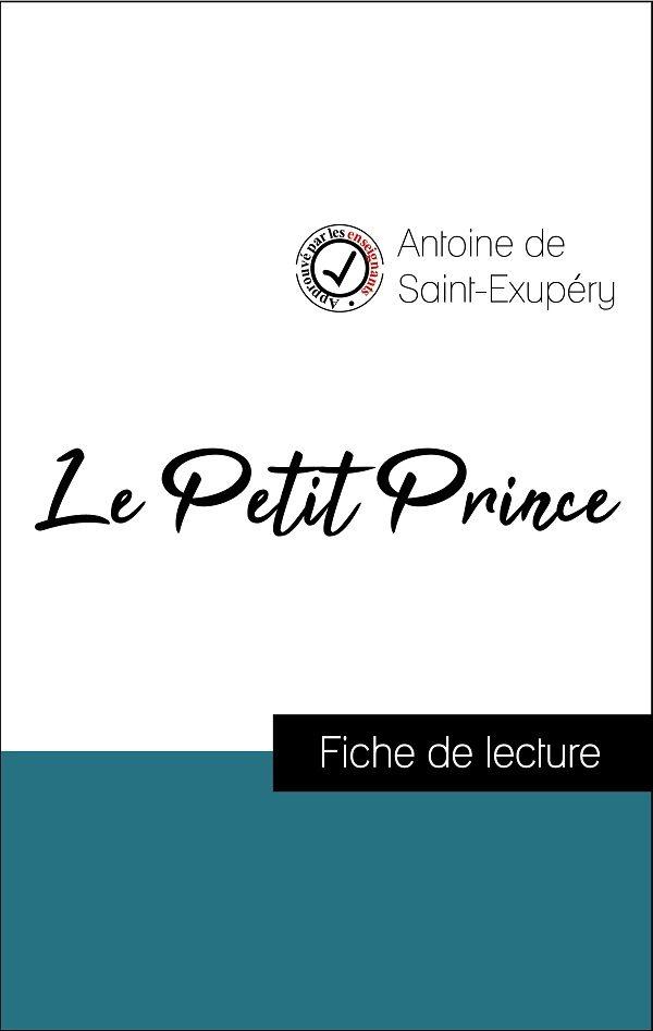 image couverture fiche de lecture le petit prince de antoine de saint-exupéry