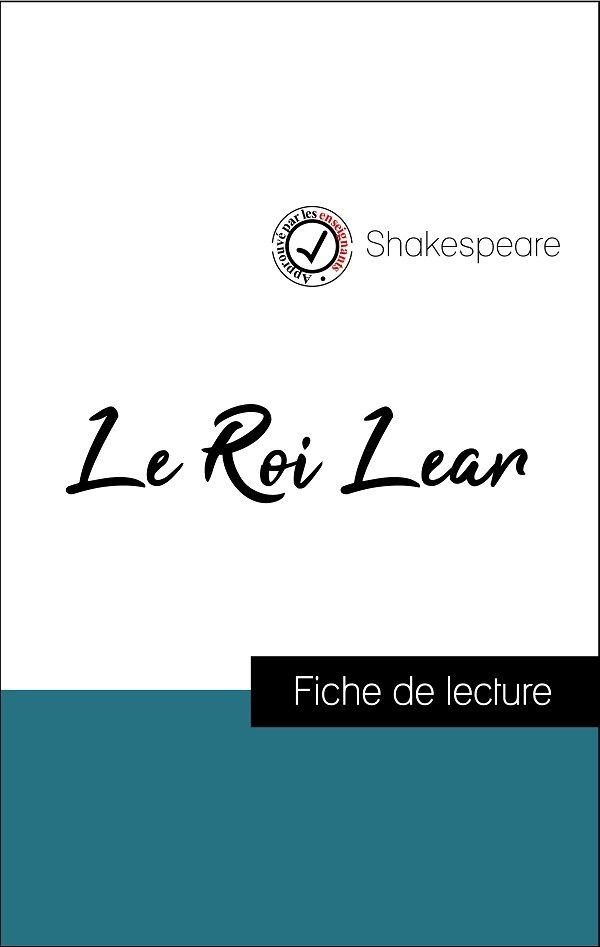 image couverture fiche de lecture le roi lear de shakespeare