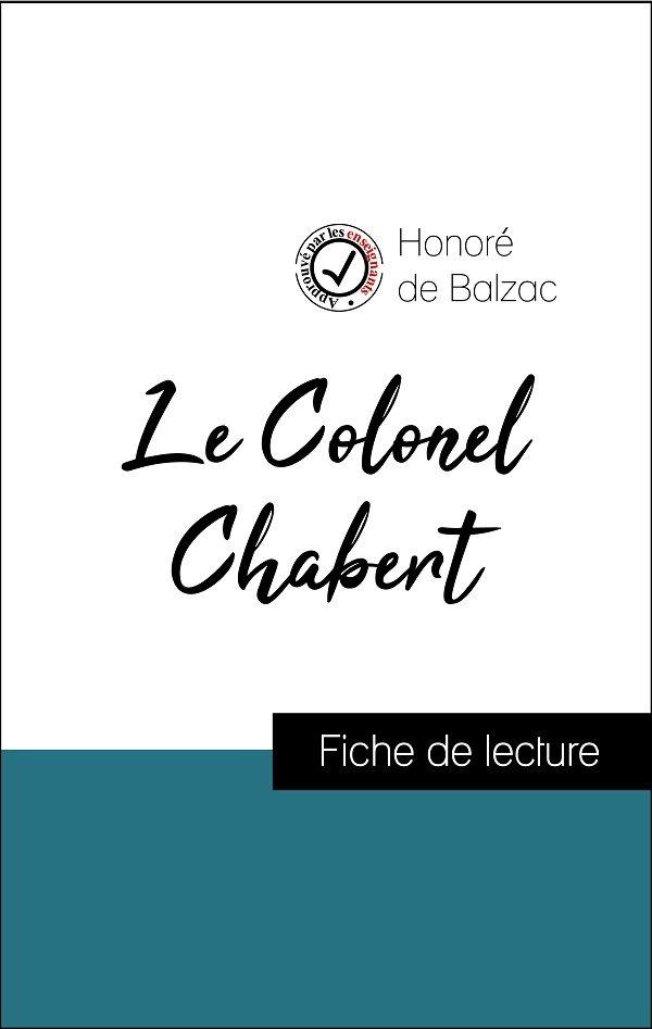 image couverture fiche de lecture le colonel chabert de balzac