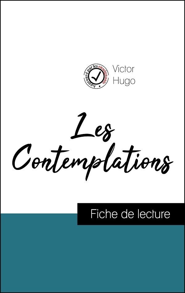 image couverture fiche de lecture les contemplations de victor hugo