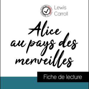 image couverture fiche de lecture alice au pays des merveilles de lewis carroll