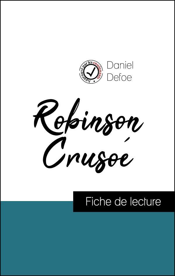 image couverture fiche de lecture robinson crusoé de daniel defoe
