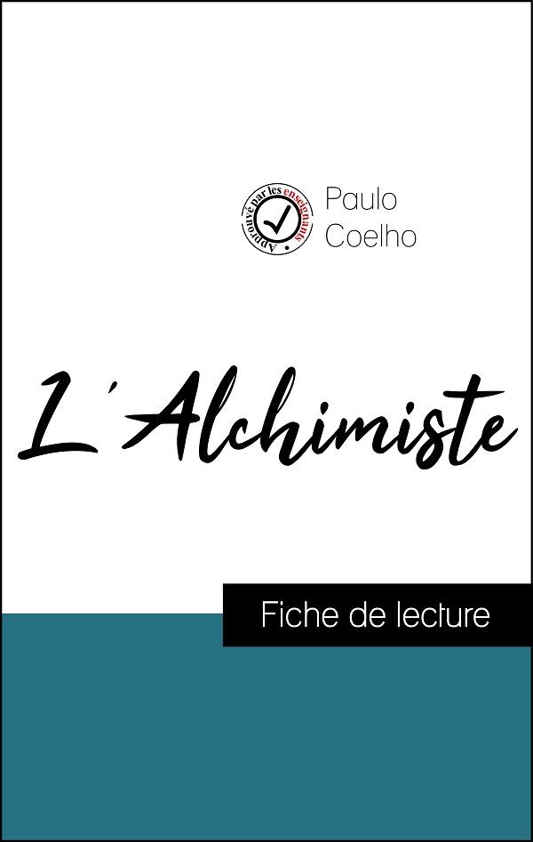 image couverture fiche de lecture l'alchimiste de paulo coelho