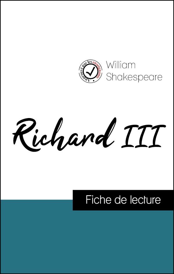 image couverture fiche de lecture richard III de shakespeare
