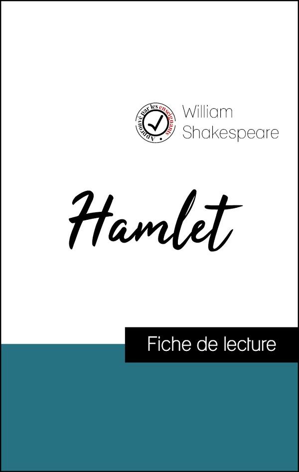 image couverture fiche de lecture hamlet de shakespeare