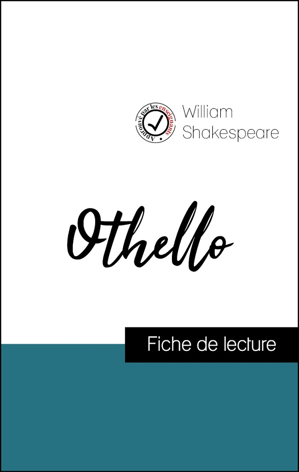 image couverture fiche de lecture othello de shakespeare