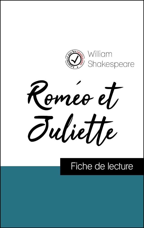 image couverture fiche de lecture roméo et juliette de shakespeare
