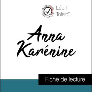 image couverture fiche de lecture anna karénine de léon tolstoi
