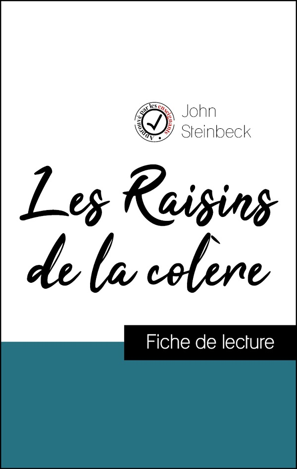 image couverture fiche de lecture les raisins de la colère de john steinbeck
