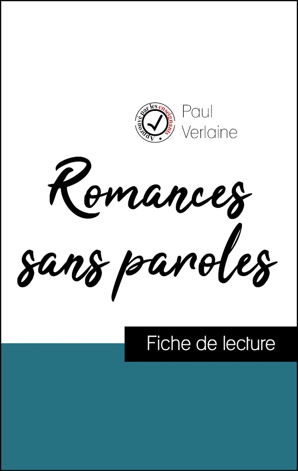 image couverture fiche de lecture romances sans paroles de paul verlaine