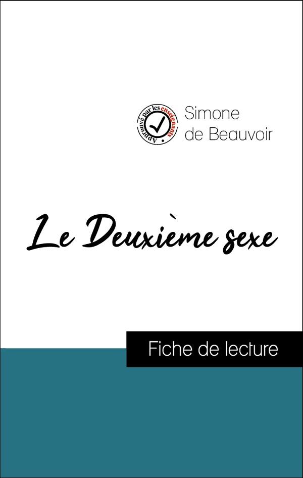 image couverture fiche de lecture le deuxième sexe de simone de beauvoir
