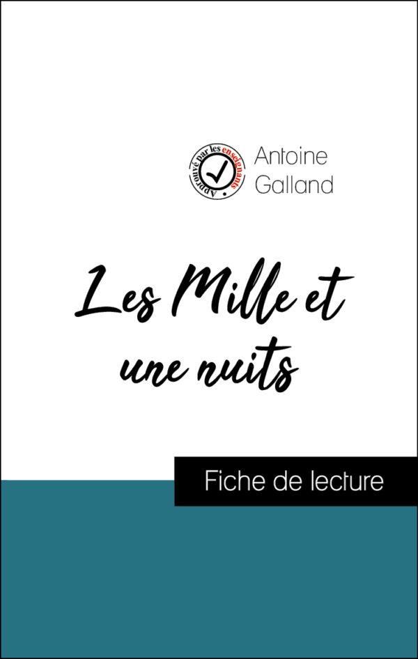 image couverture fiche de lecture les mille et une nuits de antoine galland