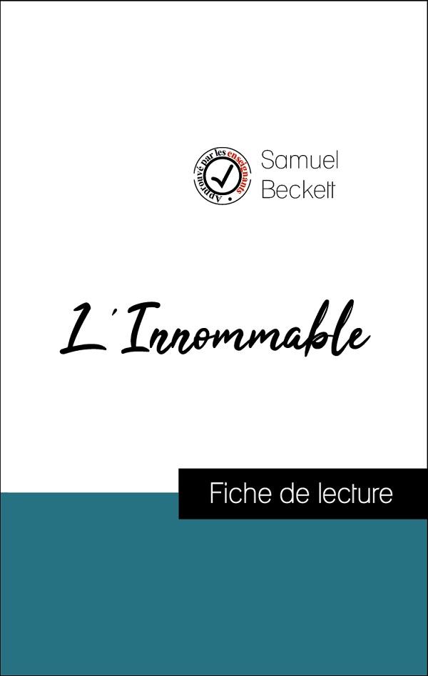 image couverture fiche de lecture l'innommable de samuel beckett