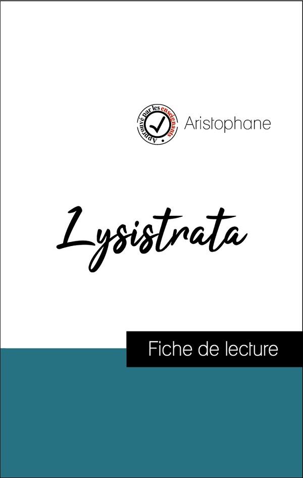 image couverture fiche de lecture lysistrata