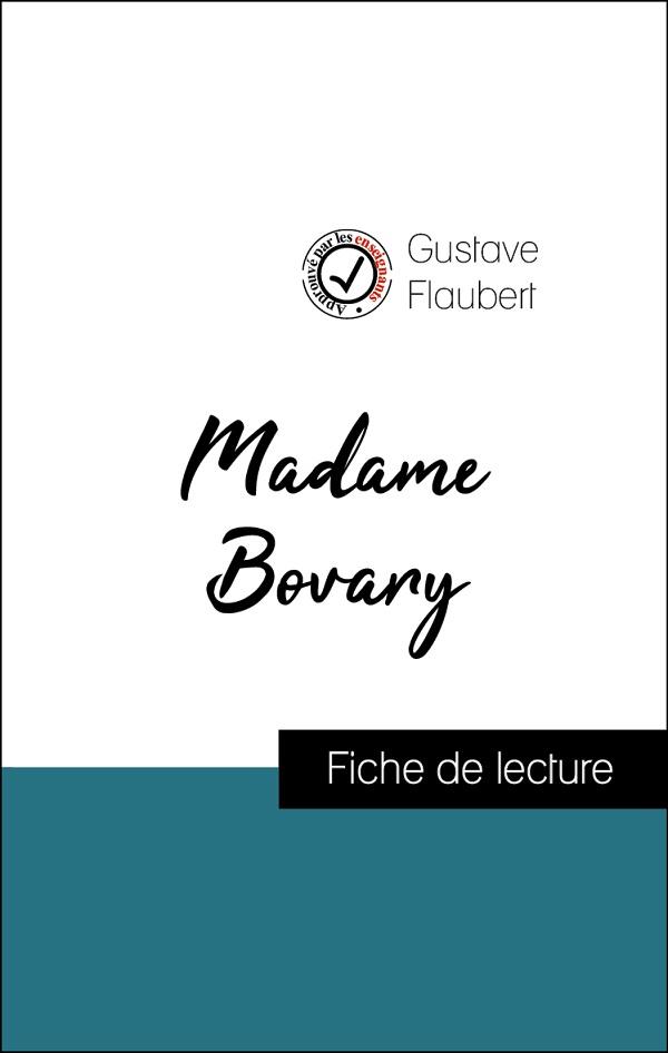 image couverture fiche de lecture madame bovary de gustave flaubert