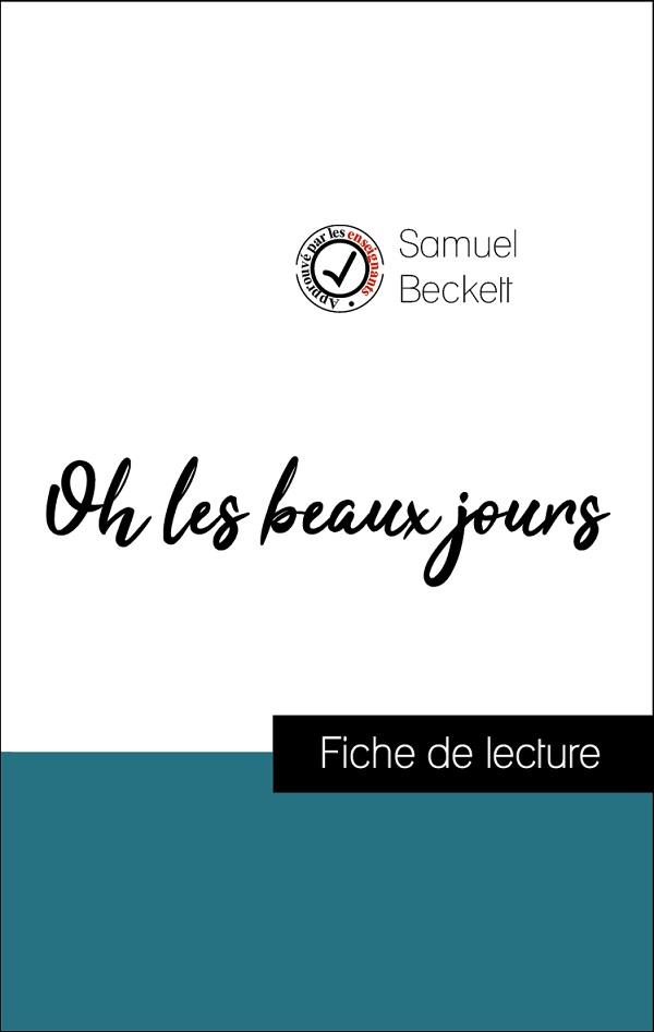 image couverture fiche de lecture oh les beaux jours de samuel beckett