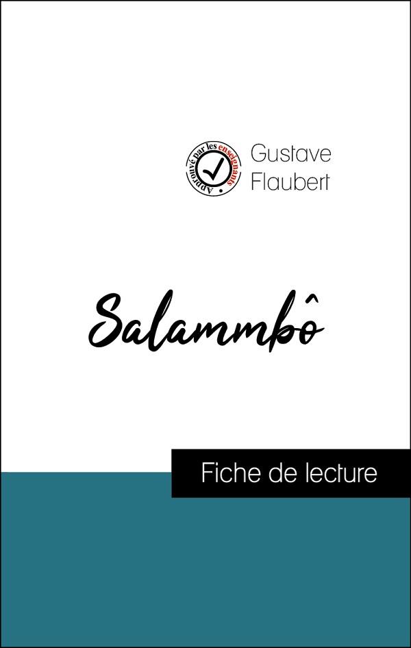 image couverture fiche de lecture salammbô de gustave flaubert