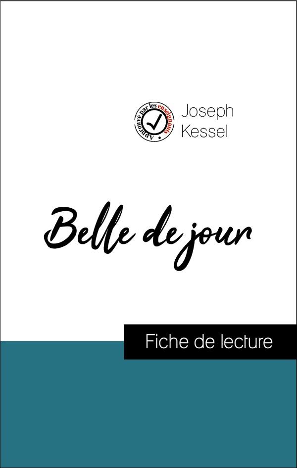 image couverture fiche de lecture belle de jour de joseph kessel
