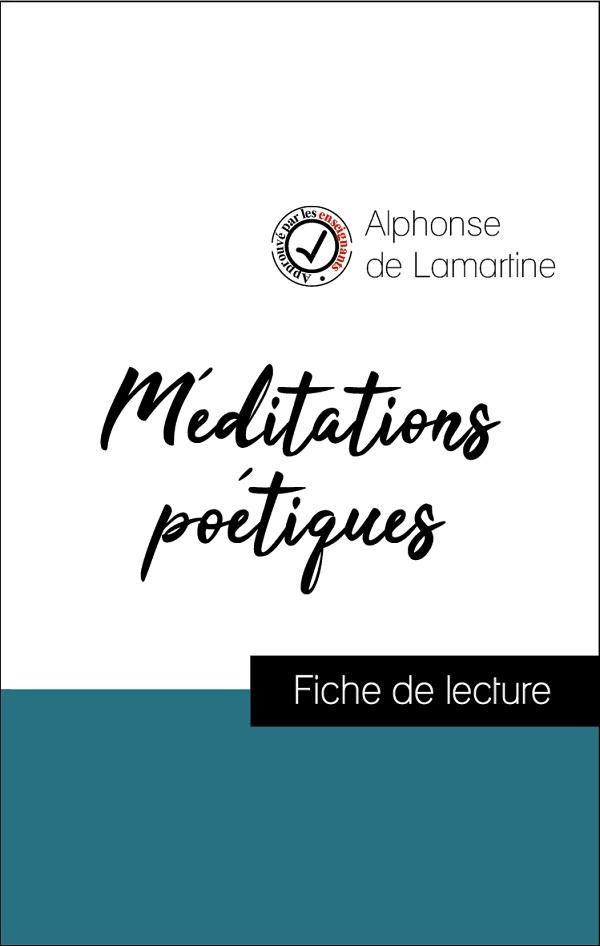 image couverture fiche de lecture méditations poétiques de lamartine